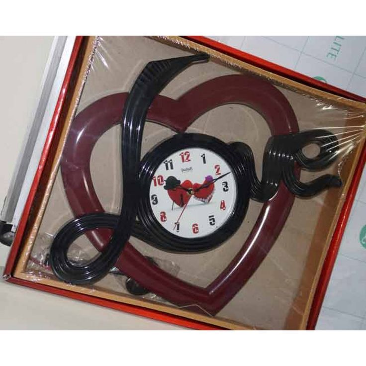 Heart Shape Clock Wall Hanging With Pendulum Home Decor New: A brand-new, unused and undamaged item that is fully opeartional and functions as intended.   Style:Designer Size: Width: 48cm,Height: 40cm