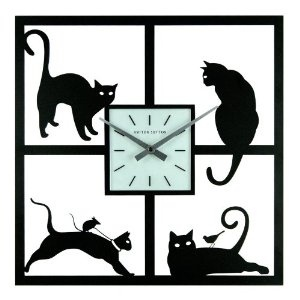 Ashton Sutton Four Cats Wall Clock - 15.5W x 15.5H in.  by Ashton