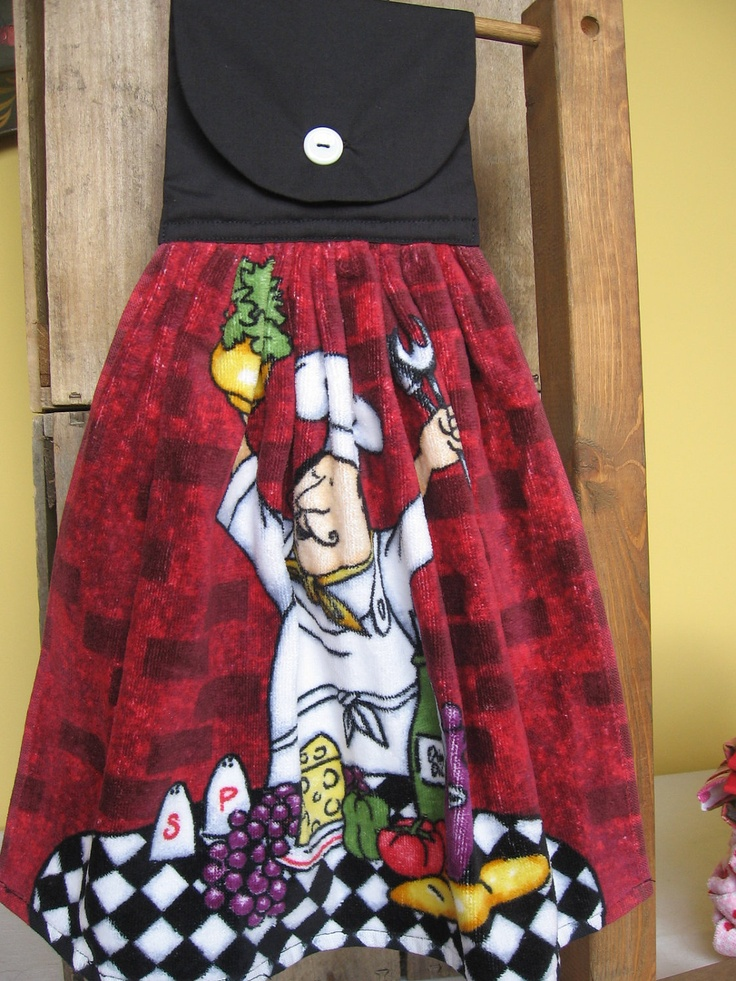 Fat Chef Kitchen Towel Hanging Kitchen Towel Red And Black Hanging Kitchen Towel