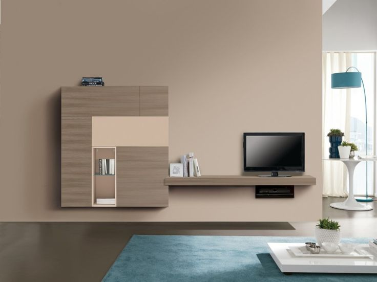 Furniture, Wall Storage Units Design And Brown Tv Cabinet Design And Brown  Bookshelves Design For · Living Room ...