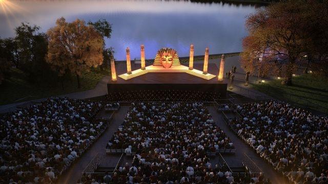 Festival La Perla: Opern-Spektakel AIDA in 4 Akten von Antonio Ghislanzoni, Musik von Giuseppe Verdi. Vom 07.08.2013 bis 18.08.2013 auf der Seebühne Pfäffikersee in Pfäffikon ZH. Tickets: http://www.ticketcorner.ch/festival-la-perla