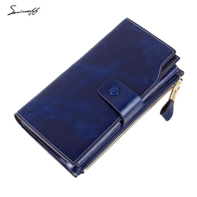 Check lastest price SMIRNOFF 2017 New Genuine Leather Ladies Wallet Long Paragraph Oil Wax Cowhide Women'S Multi-Card Wallet just only $28.07 with free shipping worldwide  #womanwallets Plese click on picture to see our special price for you