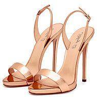 Feminino-Sandálias-Outro+Chanel-Salto+Agulha-Preto+Vermelho+Dourado+Champagne+Transparente-Couro+Ecológico-Casamento+Escritório+&+–+EUR+€+67.21