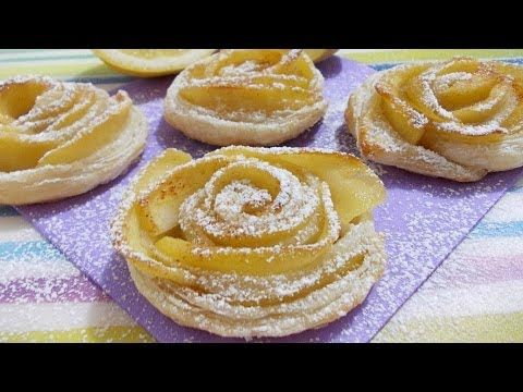 Rose di pasta sfoglia - YouTube