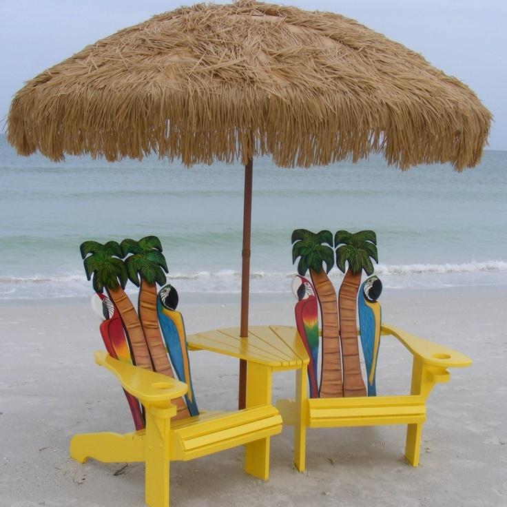 Tropical Beach Chairs Island Time Design | C...
