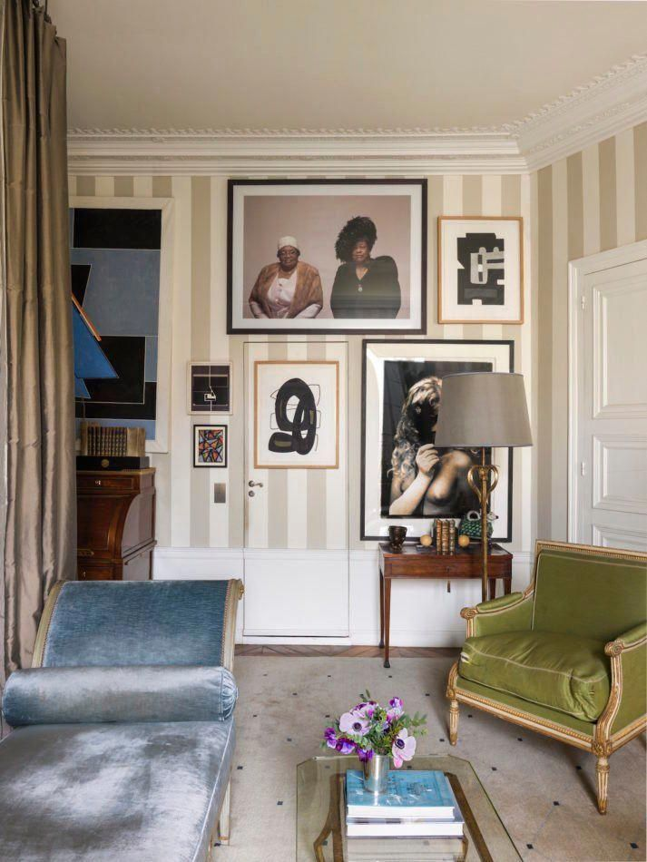 Tour Jamie Creel\u0027s Elegant Paris Apartment - 1stdibs The Study - Design Living