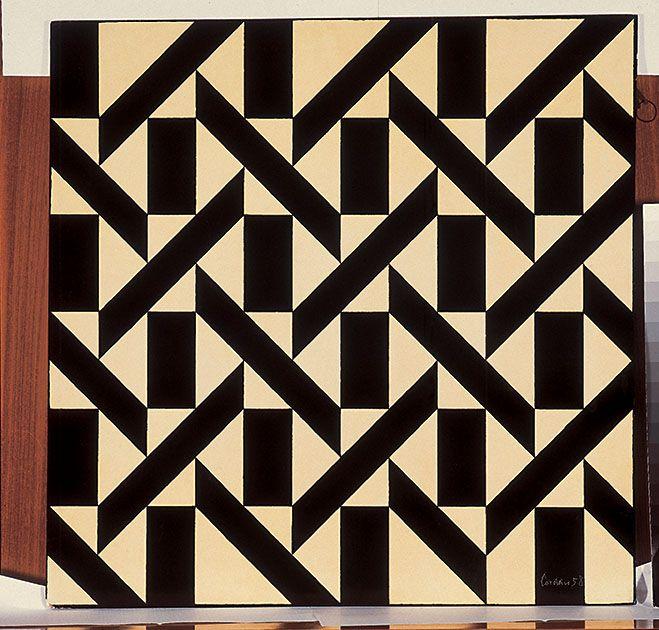 """""""Antropofagia y Modernidad. Arte Brasileño en la Colección Fadel"""". Waldemar Cordeiro Sem título, 1958 Esmalte sobre aglomerado 51 x 51 cm 52.3 x 52.2 x 2 cm Exhibition organized by MALBA, Museum of Latin American Art of Buenos Aires."""