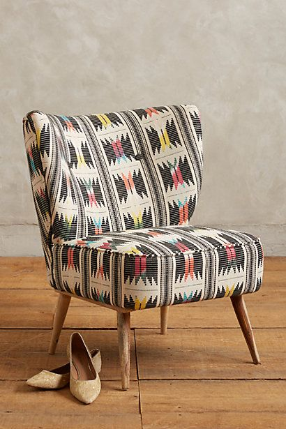 Anthropologie EU Moresque Chair...beautiful kaleidoscopic colours.