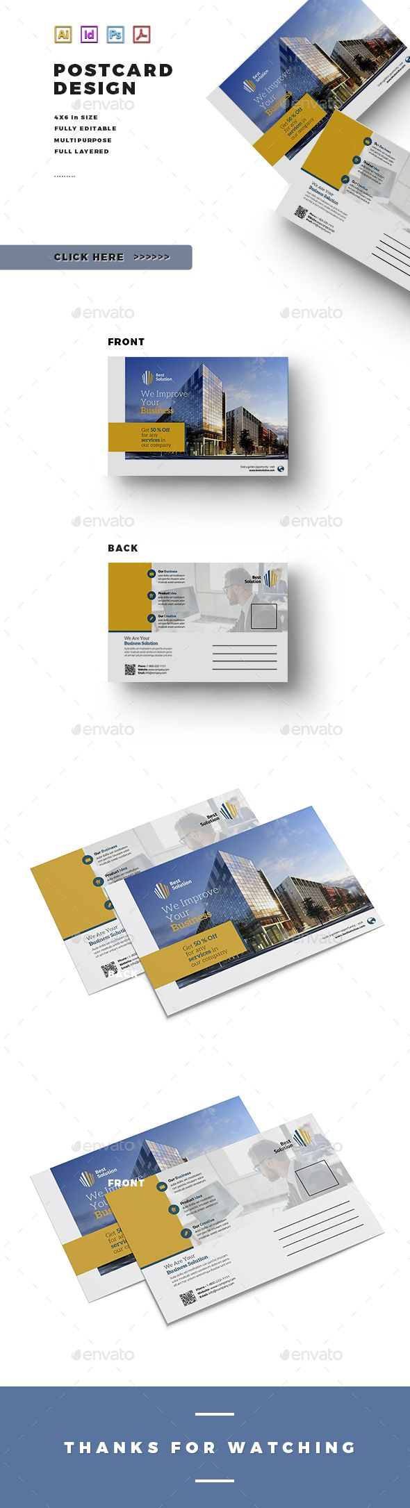 240 best Postcard Templates images on Pinterest | Postcard template ...