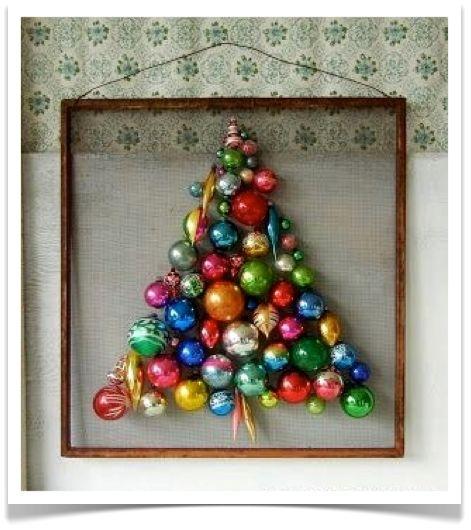 framed ornament tree