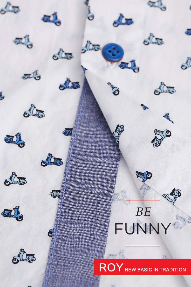 #vespa #men #shirt #summer Printed men shirt http://www.roy.eu/