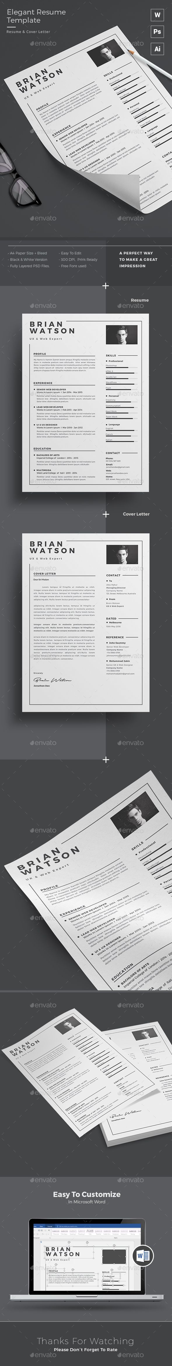 Resume Template PSD, AI. Download here: http://graphicriver.net/item/resume/15841105?ref=ksioks