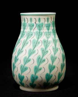Freeform vase, designed by Alfred Read for Poole Pottery, early 1950s