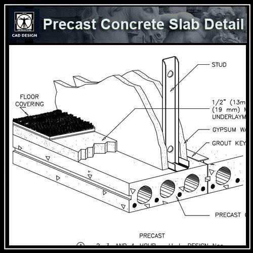 Free CAD Details-Precast Concrete Slab Detail (ISO)