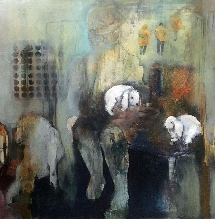 Thea Vos - Witte konijnen