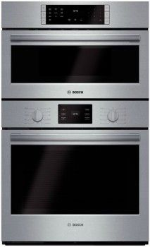 Bosch $3500 HBL5751UC 30 Inch Speed Combination Wall Oven with 4.6 cu. ft. European Convection Oven, Convection Microwave, 11 Cooking Modes, Pizza Mode, Clock and Timer, EcoClean Self-Clean Function, Oven Light and Star-K Certified Sabbath Mode