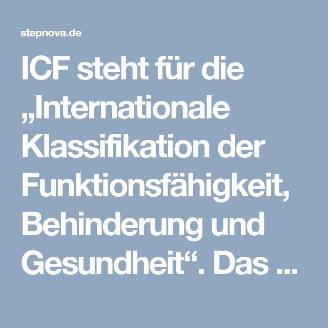 """ICF steht für die """"Internationale Klassifikation der Funktionsfähigkeit, Behinderung und Gesundheit"""". Das ICF basierte Screening beschreibt den individuellen Gesundheitszustandes eines Menschen und zeigt, welche Auswirkung seine jeweilige Erkrankung auf seine Teilhabe an der Gesellschaft hat. In der beruflichen Rehabilitation birgt ICF den Vorteil, Gesundheitsprobleme standardisiert festzuhalten und zu kommunizieren, sodass geeignete Maßnahmen zugewiesen werden können. Somit trägt ICF zur…"""