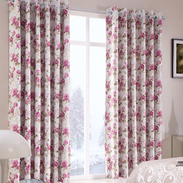 Bedroom curtains floral