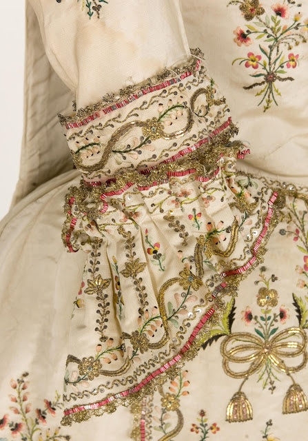"Detail, ""Robe ala Piemontaise"", mid-18th c.,Textile Museum & Documentation Centre"