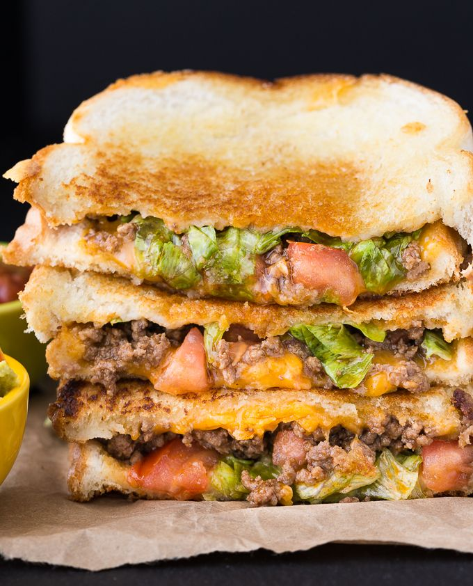 Celebrate National Grilled Cheese Day by taking two recipe favourites and combining them into a delicious Taco Grilled Cheese Sandwich.