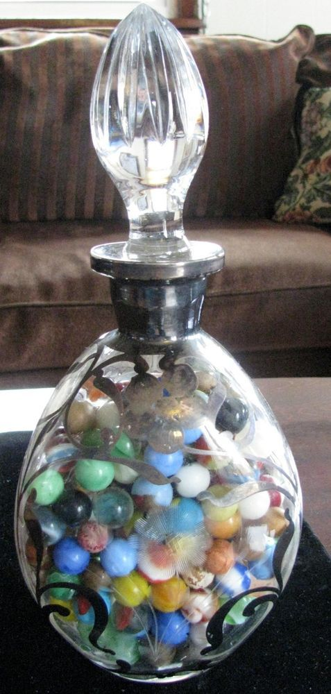 "Antique Marbles Lot - Victorian Decanter ""CombinationTreasure""RareCats*FREESHIP"