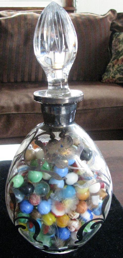 """Antique Marbles Lot - Victorian Decanter """"CombinationTreasure""""RareCats*FREESHIP"""