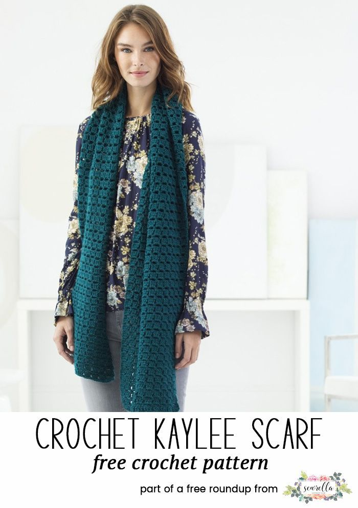Crochet this easy block stitch kaylee scarf from my 20 best crochet ...