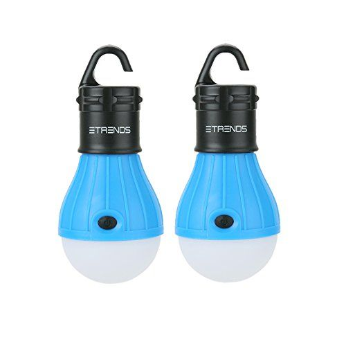2 Pack E-TRENDS Portable LED Lantern Tent Light Bulb for Camping Hiking Fishing Emergency Light, Battery Powered Camping Equipment Gear Gadgets Lamp for Outdoor