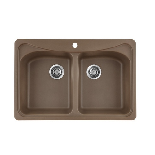 9 best new kitchen sink fauchets images on pinterest handle zoomed blanco cafe brown 1 hole double basin composite granite topmount kitchen sink fandeluxe Images