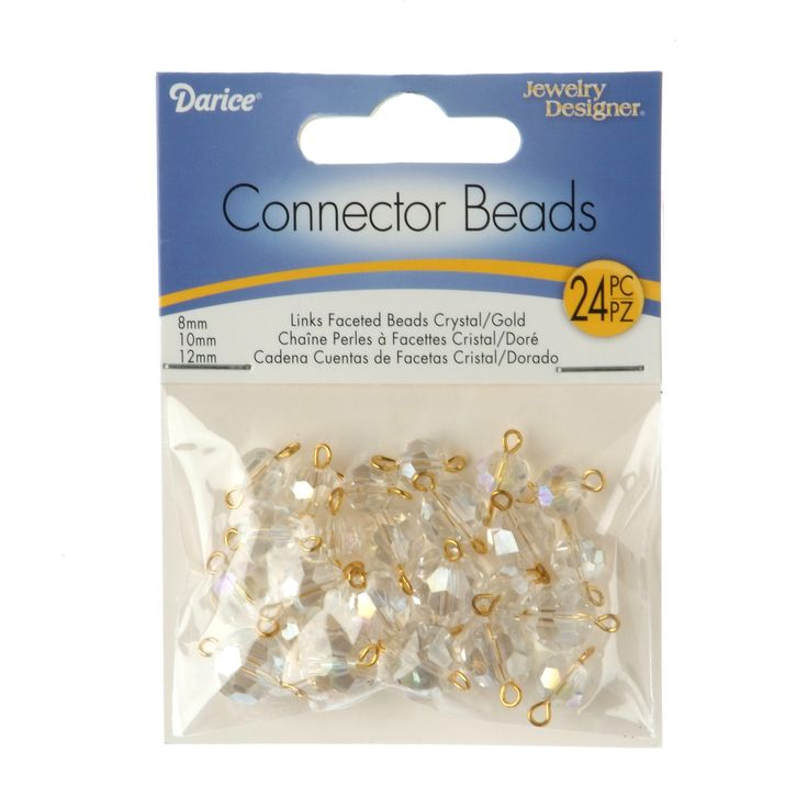 crystal ab faceted glass bead jewelry connectors crystal abgold