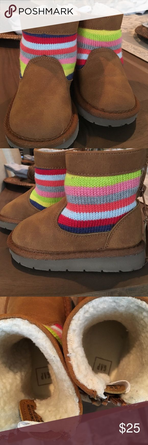 Baby gap crazy shoe crazy stripe boot Baby gap size 6 boot. Super cute and in new condition. GAP Shoes Boots
