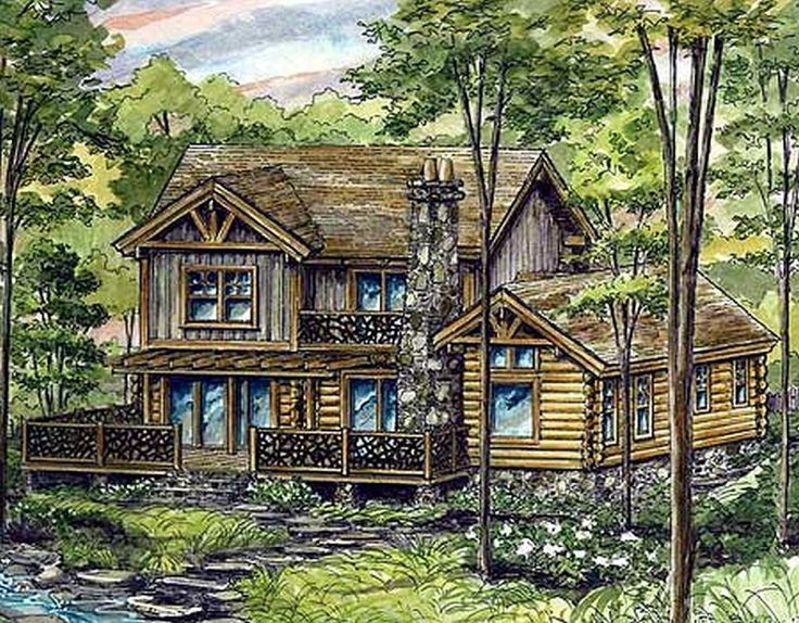 243 best images about log home floor plans on pinterest Log cabin for two