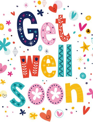 Fabulous image within free printable get well cards