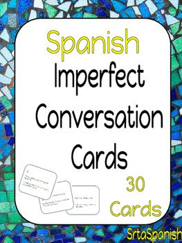 Question cards to help your students start some conversations and practice the imperfect tense!