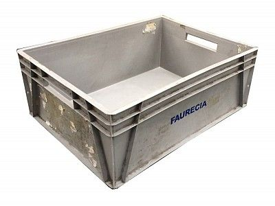 Heavy Duty Used 123 Litre Large 800x600 Stacking Plastic Euro Container