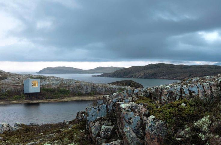 Des résidences pour artistes sur l'île de Fogo, dans la région côtière de Terre-Neuve, au Canada. Par Le studio norvégien d'architecture Saunders