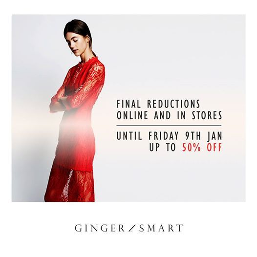 Final reductions until this Friday 9th January. Online and in stores now.www.gingerandsmart.com