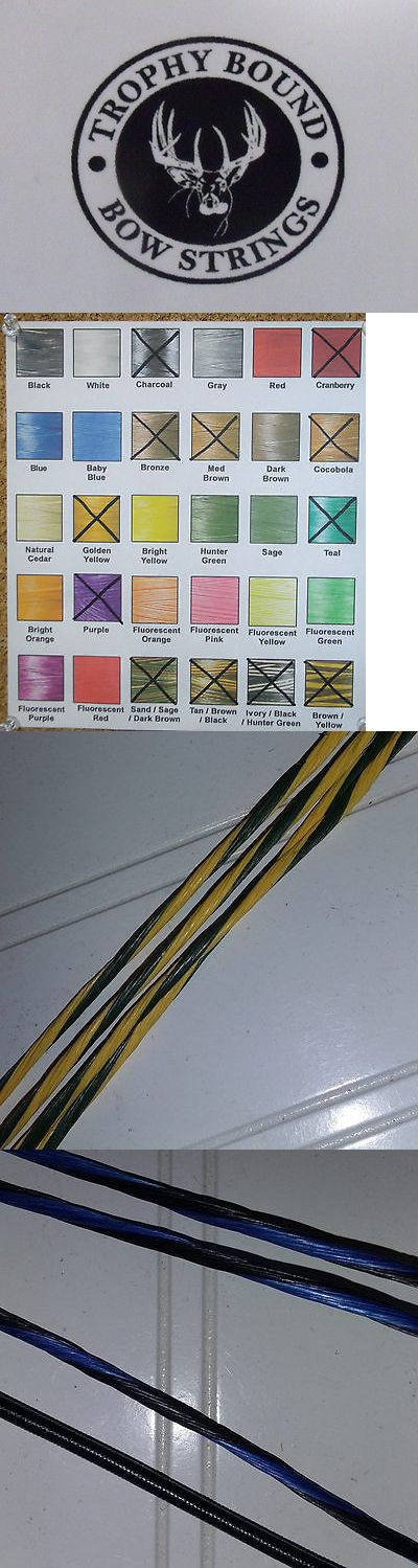 Strings 181305: Martin Bow String And Cable Set Various Models Trophy Bound Strings Custom Colors BUY IT NOW ONLY: $42.99