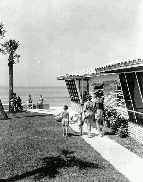 Heading off to the beach at Beachcomber Resort Motel, Panama City Beach.