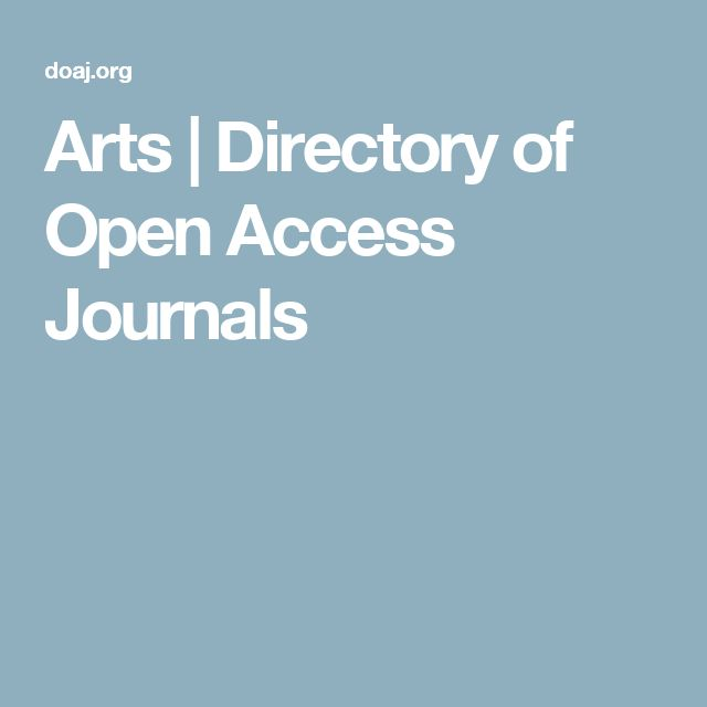 Arts | Directory of Open Access Journals