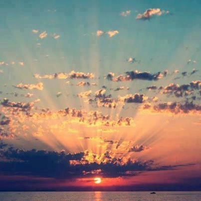 Wonderful dawn, seaside of Cattolica, Italy.