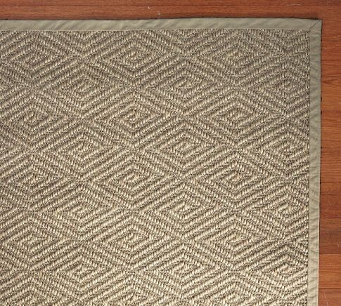 Stark concepts custom diamond sisal rug platinum for Pottery barn carpet runners