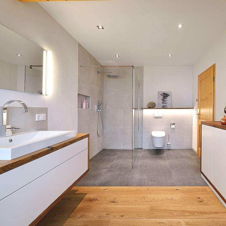 Eine Komfortmodernisierung fürs Badezimmer mit viel heimischen Naturwerkstoffen? Mögen wir seeeehr! ?Unsere Freunde von #Maidhof Bäder in Hösbach haben sich bei diesem Projekt um die Planung gekümmert, unsere Schreiner um Parkett Badmöbel und Waschtisch in heimischem Massivholz – wann dürfen wir einziehen