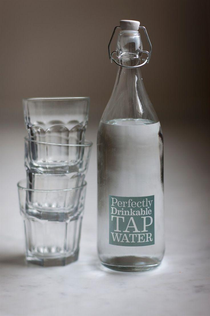 Glass Water Bottle at Garden Trading