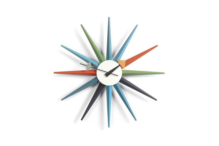 Sunburst Clock - Multicoloured by George Nelson for Vitra | Space Furniture