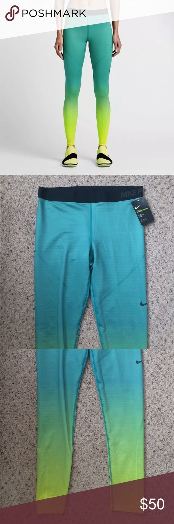 Nike Hyperwarm Teal Green Yellow Tights XL NIKE PRO HYPERWARM WOMEN'S TRAINING TIGHTS 803096  WOMENS SIZE : XL BRAND NEW WITH TAGS The Nike Pro HyperWarm Women's Training Tights help keep you warm, dry and comfortable during cool-weather workouts so you can stay active all year long.