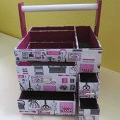 Une desserte à couture (de ChaDaNel par Chantal pour une copine) !!! - Cartonnage et compagnie !!!