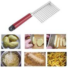 1 pcs Utensílios de Cozinha Em Aço Inoxidável Batata Frita Massa Dobra Vegetal Cortador Ondulado Slicer Faca de Frutas de Alta Qualidade Alimentar D0119(China (Mainland))