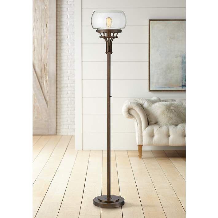 Franklin Iron Works Luz Torchiere Floor Lamp 46j69 Lamps Plus Torchiere Floor Lamp Industrial Floor Lamps Floor Lamp