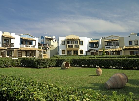 Minoan style architecture, stylish, comfortable, recently refurbished rooms, lush gardens
